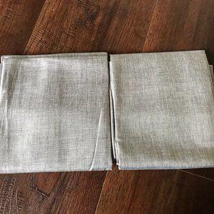 2 x Lightblocking Curtain Panel Gray